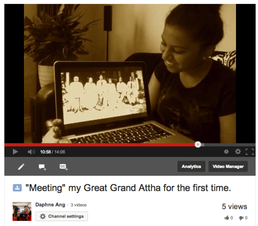 """Meeting"" my Great Grand Attha for the first time."