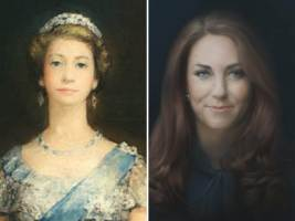 The Queen's portrait from 1952 was deemed not enough of a likeness. Many fans complained that Duchess Kate's official portrait also didn't bear a resemblance. It turns out Duchess Kate isn't the only royal to get a controversial portrait: The Queen was also once the victim of a bad paint job. A 1952 portrait of Queen Elizabeth II is on display again this week after being hidden from view for more than 60 years, initially rejected for portraying the monarch with an exaggeratedly long neck.