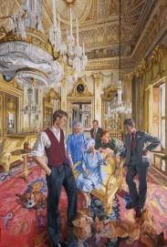 'The Royal Family: A Centenary Portrait' by John Wonnacott oil on canvas on foamboard, 2000 144 3/8 in. x 98 1/4 in. (3663 mm x 2493 mm) Commissioned, 2000 National Portrait Gallery, London
